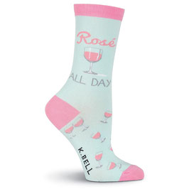 Women's Rosé All Day Crew Socks