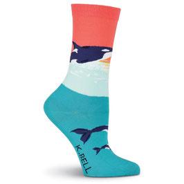 Women's Orca Whale Crew Socks