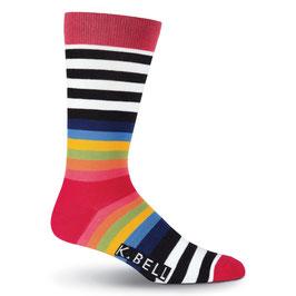 Men's Color Block Striped Crew Socks