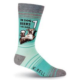 Men's Dog Beers Crew Socks