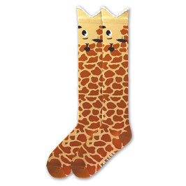 Wide Mouth Giraffe Knee High Socks