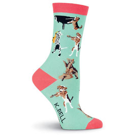 Women's Musical Dogs Crew Socks