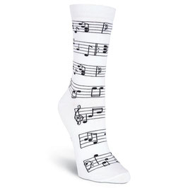 Women's Making Music Crew Socks white