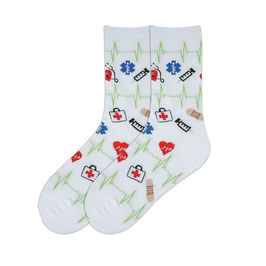 Medical Supplies Crew Socks
