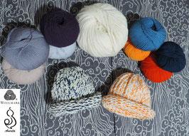 Berretto bimbo in lana merinos e alpaca