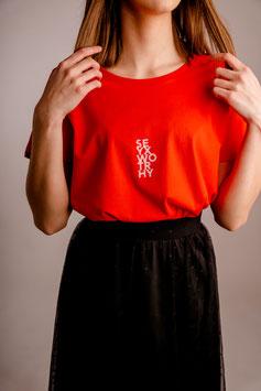 Shirt #worthy rood