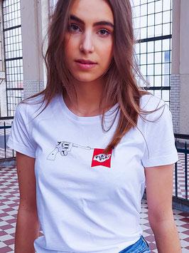 shirt #woordwapen wit