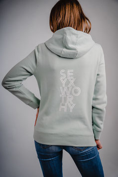 hooded sweater #worthy pastelgroen