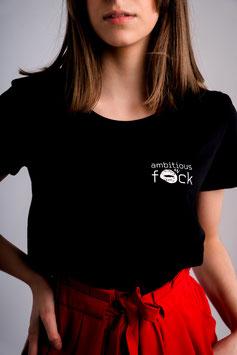 shirt #ambitious zwart