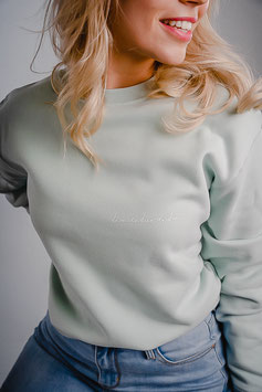 Sweater #dromen pastelgroen