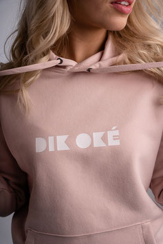 hooded sweater #dikoké pastelroze