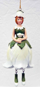 Glockenblumen-Mädchen weiß