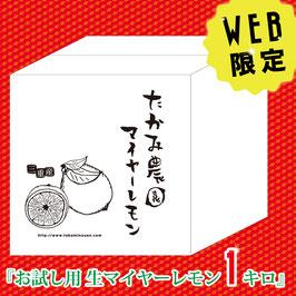【WEB限定】お試し用 生マイヤーレモン1キロ