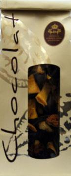 Schokoladentaler Zartbitter Ananas-Mango-Physalis