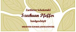 """Zartbitter Schokoladentafel """"Szechuan Pfeffer 70%"""""""
