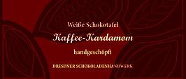 """Weiße Schokoladentafel 33% """"Kaffee & Kardamom"""" """""""
