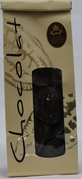 Schokoladentaler Zartbitter schwarzer Sesam