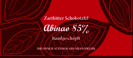 "Zartbitter Schokoladentafel ""Abinao 85%"""