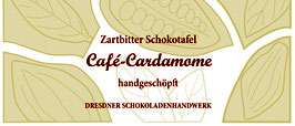 "Zartbitter Schokoladentafel  70% mit ""Cafe-Cardamome"""