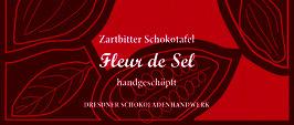 "Zartbitter Schokoladentafel ""Fleur de Sel 70%"""