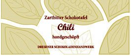 """Zartbitter Schokoladentafel  70% mit """"Chili"""""""