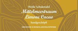 """Weiße Schokoladentafel """"Limone-Kakao 33%"""""""