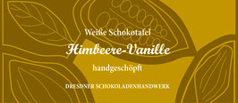 """Weiße Schokoladentafel """"Himbeere und Vanille 33%"""""""
