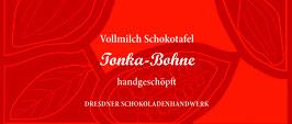 "Vollmilch Schokoladentafel ""Tonka Bohne 46%"""