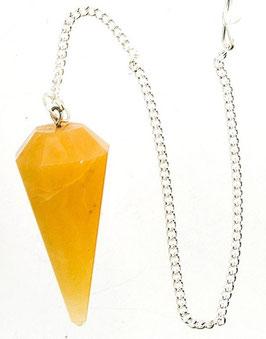 Pendule cone en Calcite jaune