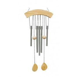 Carillon à vent 5 tubes bois naturel