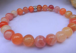Bracelet Agate du Botswana orange
