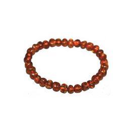 Bracelet Ambre sur élastique