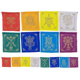 Drapeaux de prière 8 symboles auspicieux