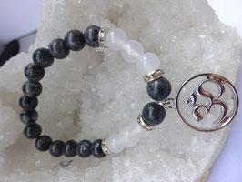 Bracelet larvikite & cristal de roche