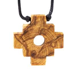 Pendentif croix inca Palo Santo  avec cordon ciré