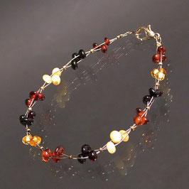 Bracelet ambre multi petites perles