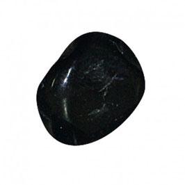 Galet plat de tourmaline noire