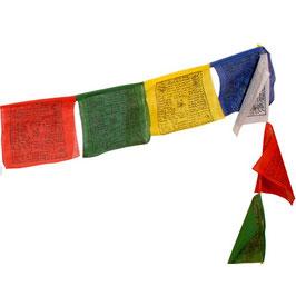 Drapeaux de prière tibétains M fil de 25