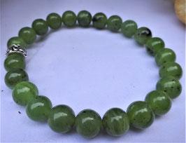 Bracelet jade néphrite perles 6 mm