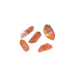 Pointe de quartz hématoïde