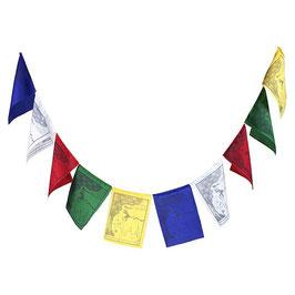 Drapeaux de prière tibétains Les quatre amis