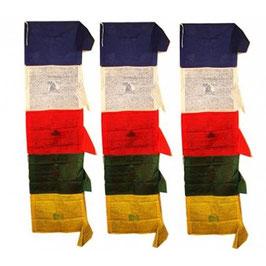 Drapeaux tibétains verticaux