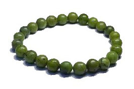 Bracelet jade néphrite perles 8 mm