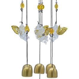 Carillon à vent avec cinq anges