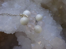 Collier Quartz rose & Nacre