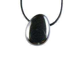Pendentif hématite pierre percée (sans cordon)