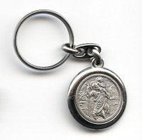 Porte clés rond Saint Christophe