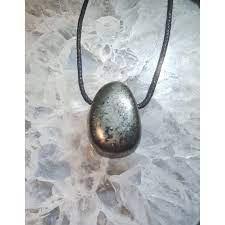 Pendentif pierre percée Pyrite (sans cordon)