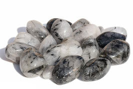Pierre roulée de quartz tourmaliné