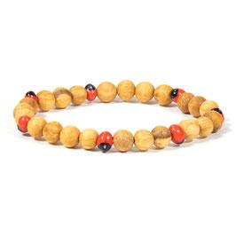 Bracelet Palo Santo avec perles Huayruro